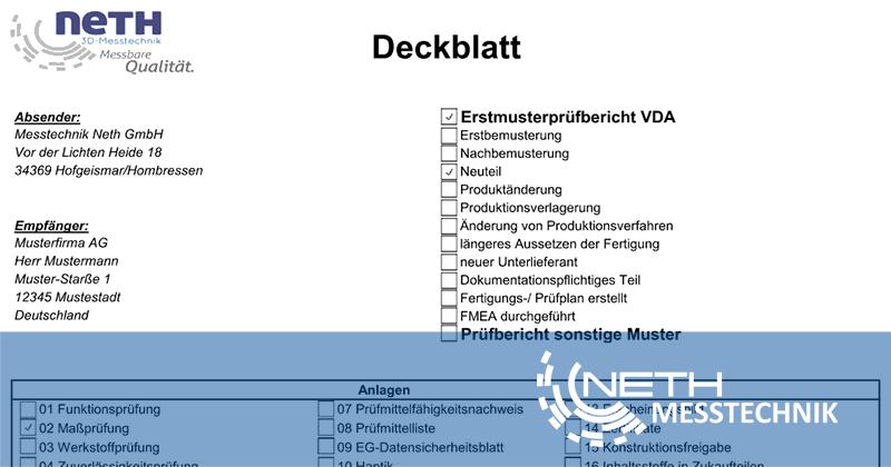 Erstmusterprüfbericht Düsseldorf