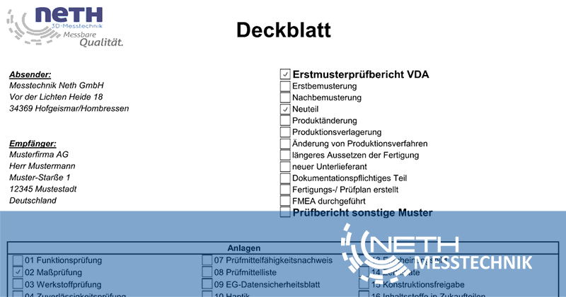 Erstmusterprüfbericht Stuttgart